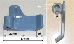 Лопатка для перемешивания (тестомес) хлебопечка LG зам. LG3300b, 5832FB3300B BM0201W - фото 13976