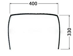 Уплотнитель двери духовки плиты DARINA П-образный GM141, ЕМ141 (GM441 561 100) для моделей без конвекции - фото 27442