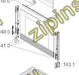 Стекло двери духовки, ДУХОВКИ glass +supports