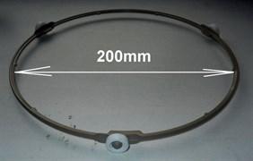 Кольцо вращения тарелки СВЧ, D-205mm, NC2000 0.6, T2*P1198, ролик D15 зам. DE72-00120 DE97-00193A