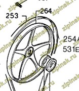Шкив на барабан стиральной машины Electrolux Zanussi AEG 1246398000