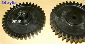 Шестерня мясорубки Ротор черная D=72mm, H=25, пр.зубья 34, квадрат 8mm