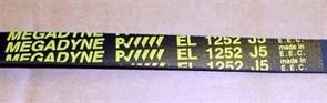 Ремень 1252 J5 EL, черный 1203mm, megadyne