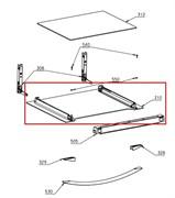 Стекло дверки духовки (наружное) Electrolux 3871762120