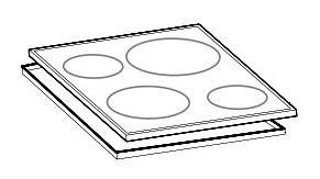 Поверхность стеклокерамическая для плиты Indesit C00256221