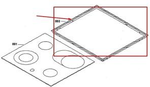Рамка стеклокерамического стола Electrolux 3196108009