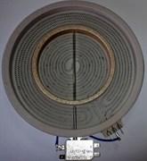Конфорка стеклокерамика 2100/700 Вт D=230/210x120мм 2хзонная EIKA 2302333811 зам. 8001840, 60702036 60702017