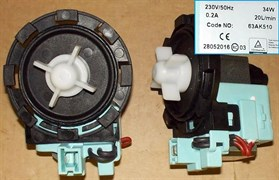 Насос стиральной машины Beko, Bosch ARTIKO 34w 8защ. клеммы вперед вместе зам. 10ma53, AC54503, AV5460, AV54560 63AK510