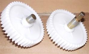 Шестерня мясорубки, D=82мм, H18мм, 46зубов с металлическим штоком 6граней, для Panasonic, Elenberg, Дива, Ротор зам. MSR41011 PN001