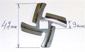 Нож для мясорубки Vitek, Panasonic, посадка 9мм зам. AMM12C-180, N435, MGR105UN MM0108W