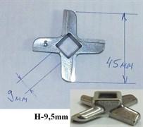 Нож мясорубки Bosch D=45mm, H=9.5mm зам. N431, 420306564080, 00020468, 620949, 028887 MM0102W