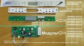 Модуль управления холодильника Атлант Н60В-М1 зам. 908081410141 (комплект с 908081410135 или 908081410129), 908081410124, 908081410140, 908081410120 908081410141