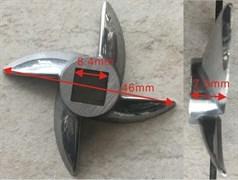 Нож для отечественных мясорубок 647589, шнек 8x8мм MM0109W зам. N001un