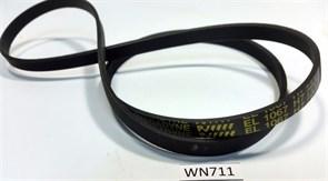 Ремень 1067 H7_EL 1027мм черный WN711 зам. C00055310, 055310