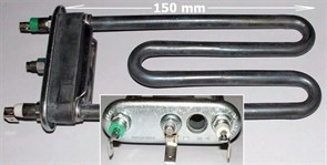 ТЭН 1460W стиральной машины Indesit Ariston прямой с отв.L=150, R13, M110 HTR011ID зам. Thermowatt 3406169, 299508