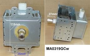 Магнетрон СВЧ LG Samsung 950W MA0319GCw зам. 2M214-240GP, OM75S(21), MA0353GCw , 2M226-23TAG, 6324W1A003D, MCW367LG