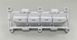 Суппорт кнопок, 4 кнопки панели уплавления СМА стиральной машины BOMPANI VESTEL M6542027603