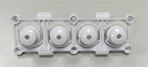 Суппорт светопроводник кнопок, 4 кнопки панели уплавления СМА стиральной машины VESTEL 42027377