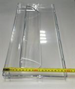 Панель ящика холодильника Индезит м/о широкая, прозрачная 45,5*19,5см 256495 зам. 285997, C00285997