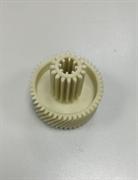 Шестерня c металлической вставкой для мясорубок Vitek/Dex, Д-51,5/22мм, зубья 53/16шт. H-49мм (Косой/прямой)