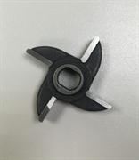 Нож мясорубки МИМ-75 с буртом двухсторонний