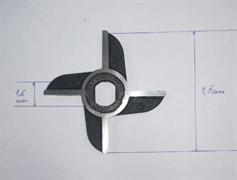 Нож мясорубки МИМ-300 без бурта двухсторонний