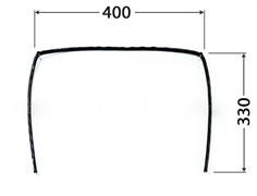 Уплотнитель двери духовки плиты DARINA П-образный GM141, ЕМ141 (GM441 561 100) для моделей без конвекции