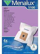 Мешки Menalux 5100, Синтетические, для пылесоса Samsung Veloce, Digimax, Supero серий FC/SC/RC/VC и др., Тип VP-77, VP-78M, 4-пылесборника + 1-моторный фильтр.