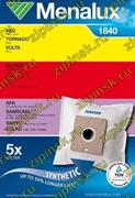Мешки Menalux 1840, Синтетические, для пылесоса AEG, Samsung, LG., 5-пылесборников +1-моторный фильтр., Суперпрочные - ресурс на 50% больше. 9001961953