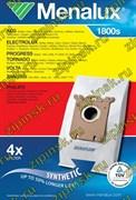 Мешки Menalux 1800S, Синтетические, Комплект, 4 мешка, повышенного объёма, + 1 моторный фильтр 9001662577