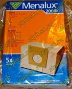 Мешки Menalux 2000P, Бумажные, для пылесоса Bosch, Siemens, Karcher и др., 5-пылесборников. 9002561117