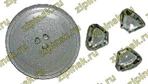 Тарелка СВЧ 245мм, с крепл.5коп., Panasonic зам. 49PM005, MCW001UN 95pm02
