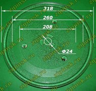 Тарелка СВЧ 318мм с креплением под 2руб., Samsung DE74-20015B 95pm11